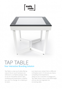 Nada Yada Tap Table Product Sheet 2014-11-03_Page_1